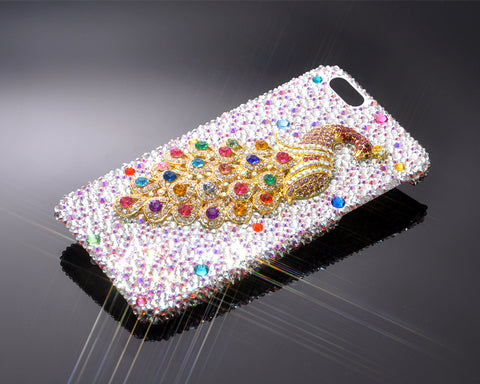 Peacock 3D Bling Swarovski Crystal Phone Cases