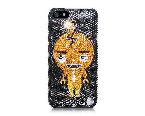 Comic Robot Bling Swarovski Crystal Phone Cases