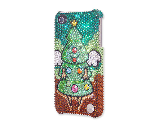 Christmas Tree Angel Bling Swarovski Crystal iPhone 8 Cases