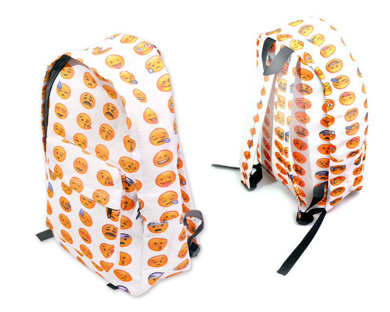 Emoji Backpack - White