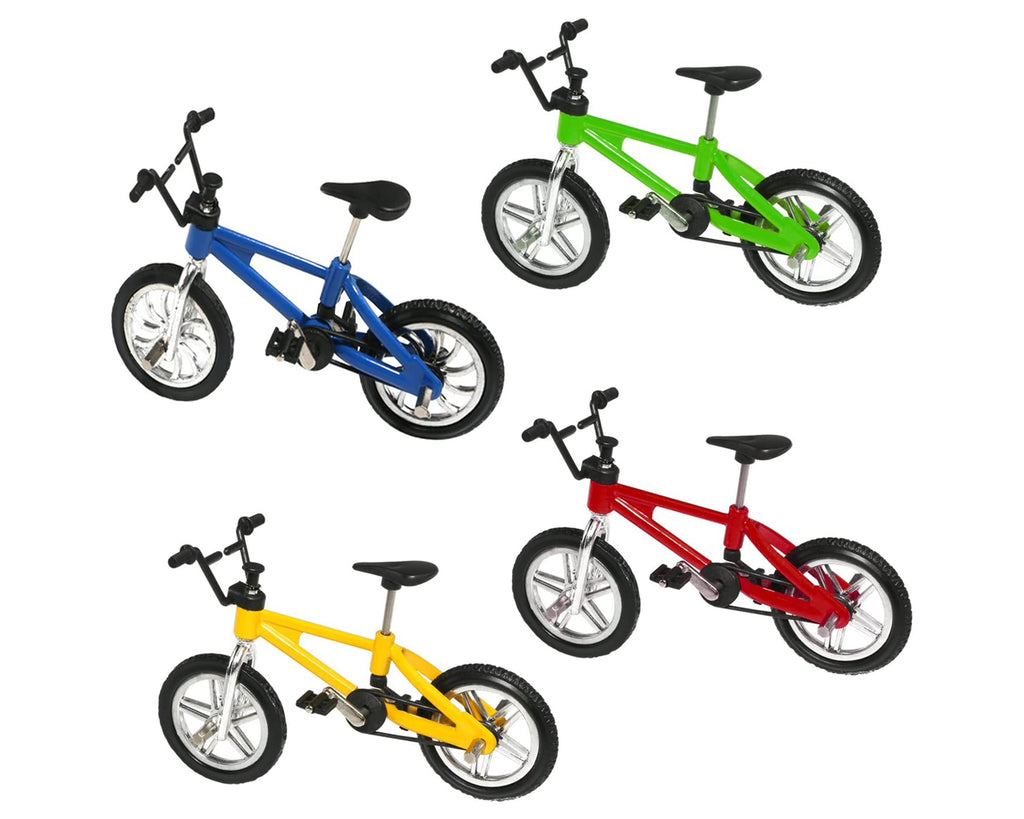 1/18 Mini Finger Bike 4 Pieces Alloy Finger BMX Toys for Kids