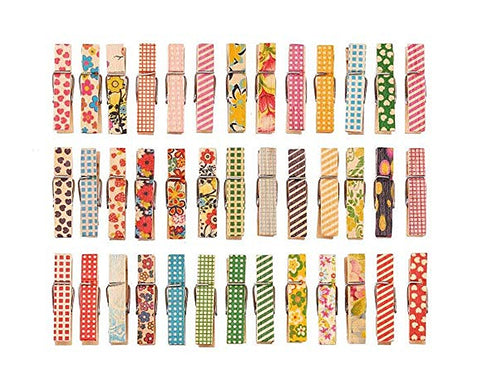 Wooden Photo Clips with String 100 Pieces Craft Clips Photo Pegs