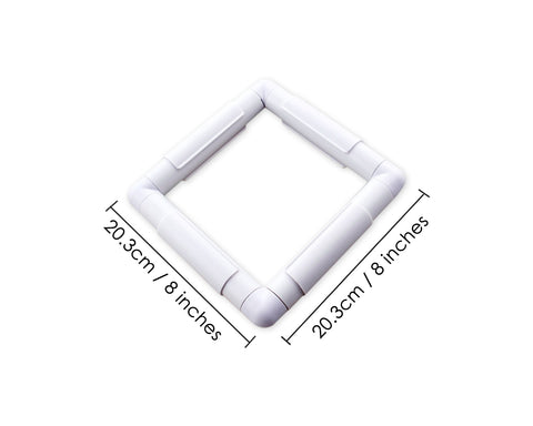 Square Clip Frame Plastic Rectangle Cross Stitch Frame for Embroidery
