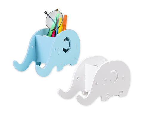 Pencil Holder 2 Pcs Elephant Shaped Pencil Bracket with Cell Phone Stand