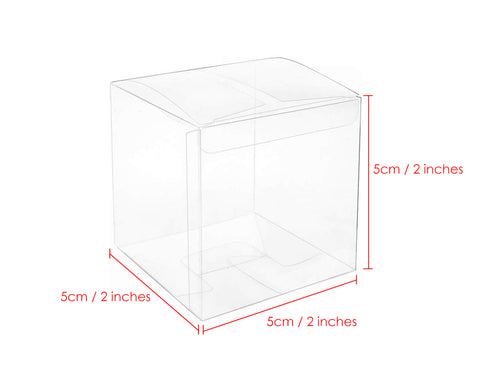 Party Favor Boxes 60 Pieces 2 x 2 x 2 Inches Transparent Candy Boxes