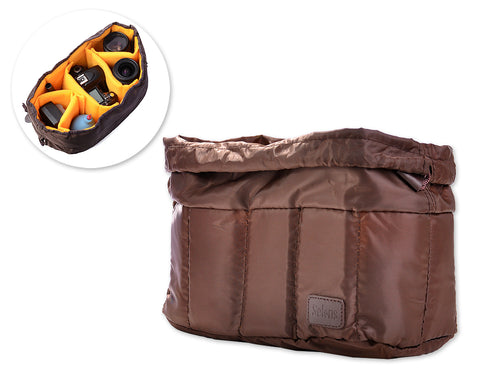 Selens PU Shockproof Camera Bag Insert - Brown