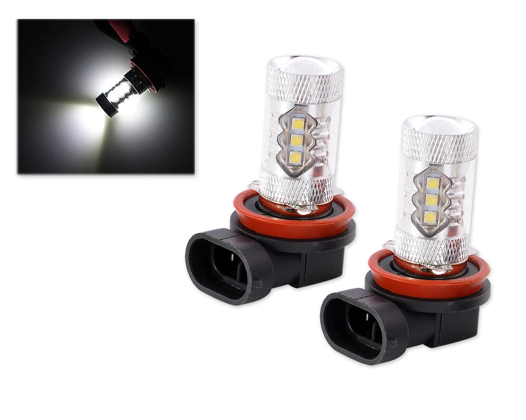 2 Pcs 80W LED Headlight Fog Light Bulbs - Super White
