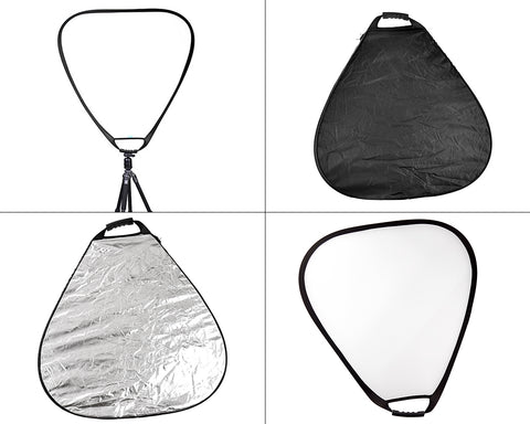 5 in 1 80cm Triangle Camera Lighting Reflector with Handle