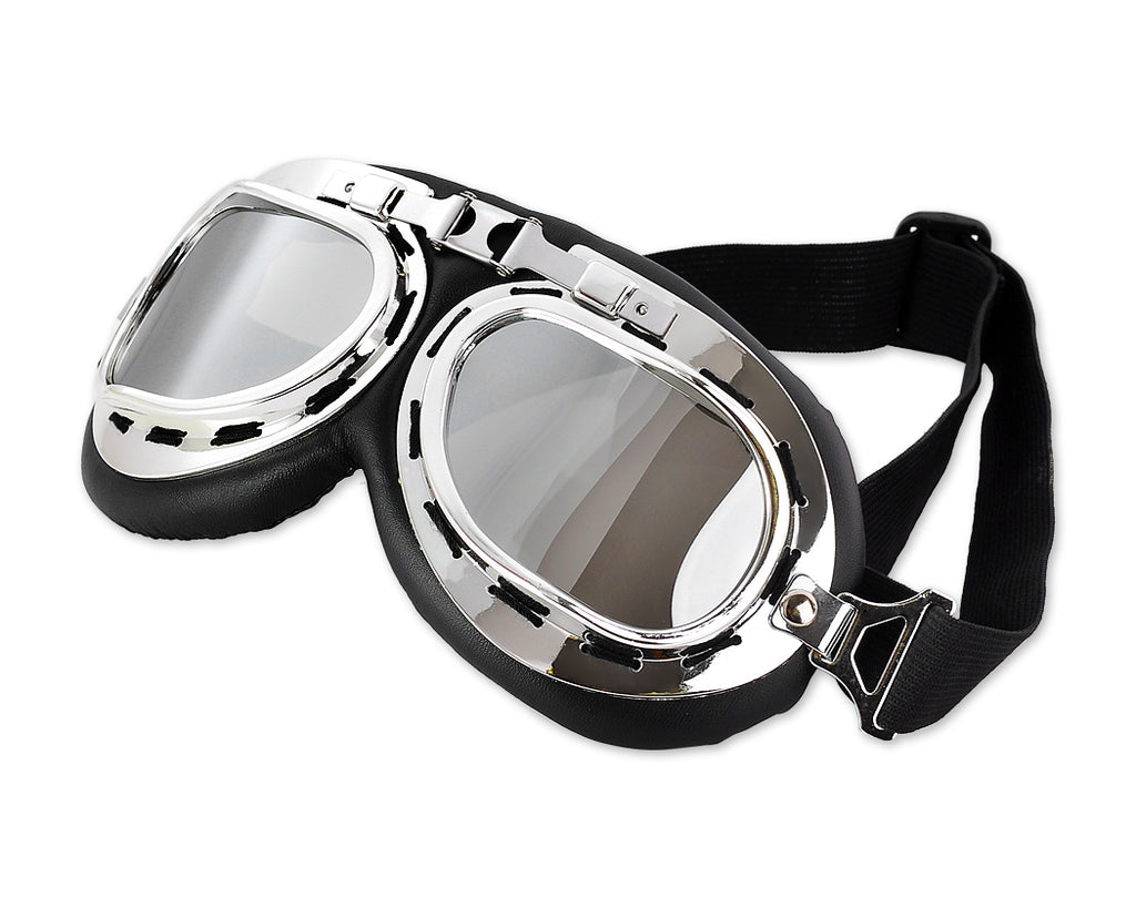 Glossy Series Motorcycle Glasses with Smoke Lenses