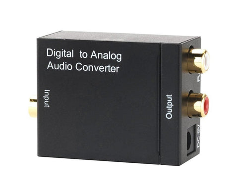 Digital Coaxial Toslink to Analog RCA Audio Converter
