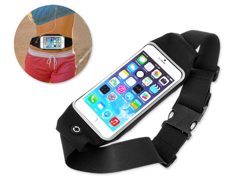 Sport Bag Running Belt with Touchable Screen for Smartphone - Black