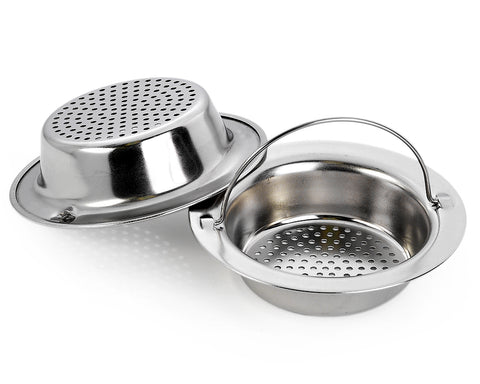 2 Pcs 4.33 Inches Stainless Steel Basket Strainer for Kitchen Sink