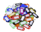 50 Pieces Keyrings with ID Tags
