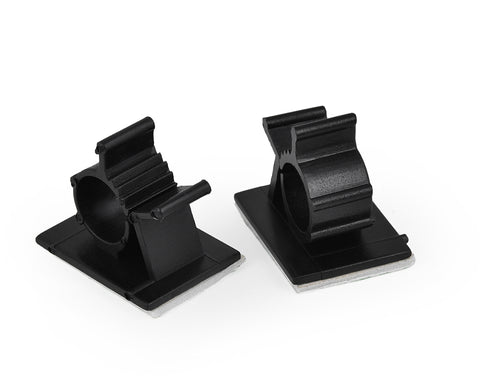Adhesive Cable Clips Set of 50 - Black