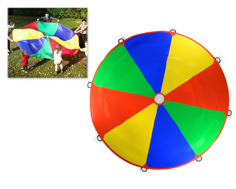 3.6m Rainbow Play Parachute with 8 Handles for Kids Outdoor Games