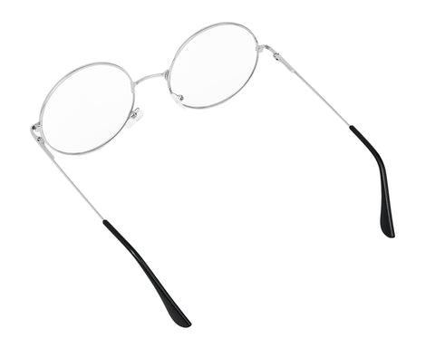 Metal Frame Round Glasses Set of 3