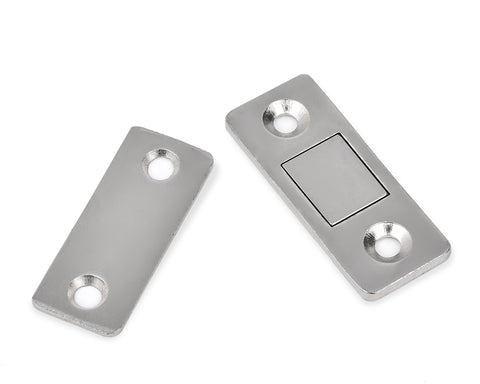 Magnetic Door Catch Latch with Screws for Cabinet Set of 2