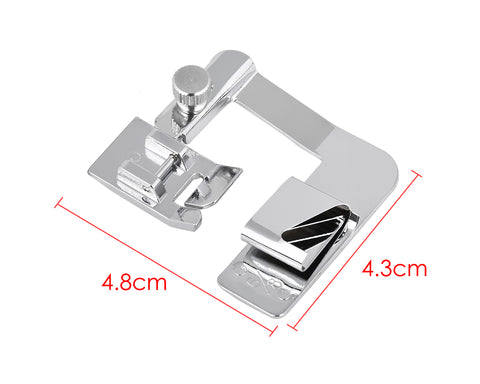 3 Sizes Sewing Machine Rolled Hem Presser Foot - 4/8, 6/8, 8/8 Inches