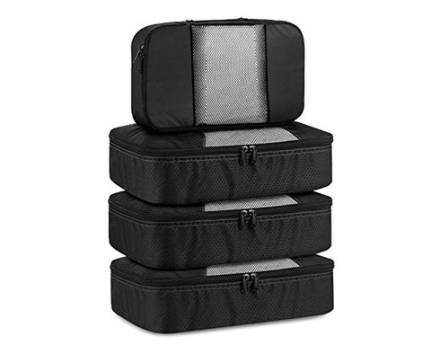 Packing Cubes Set of 4 Travel Luggage Organizer 3 Medium and 1 Small