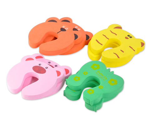 4 Pcs Colorful Animals Foam Door Stoppers
