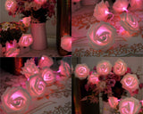 20 Pcs Rose Flower Battery Operated LED String Light - Pink