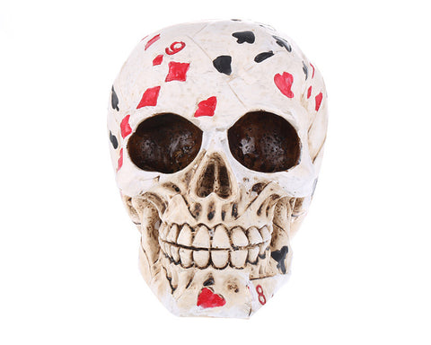 Decorative Poker Skull Head