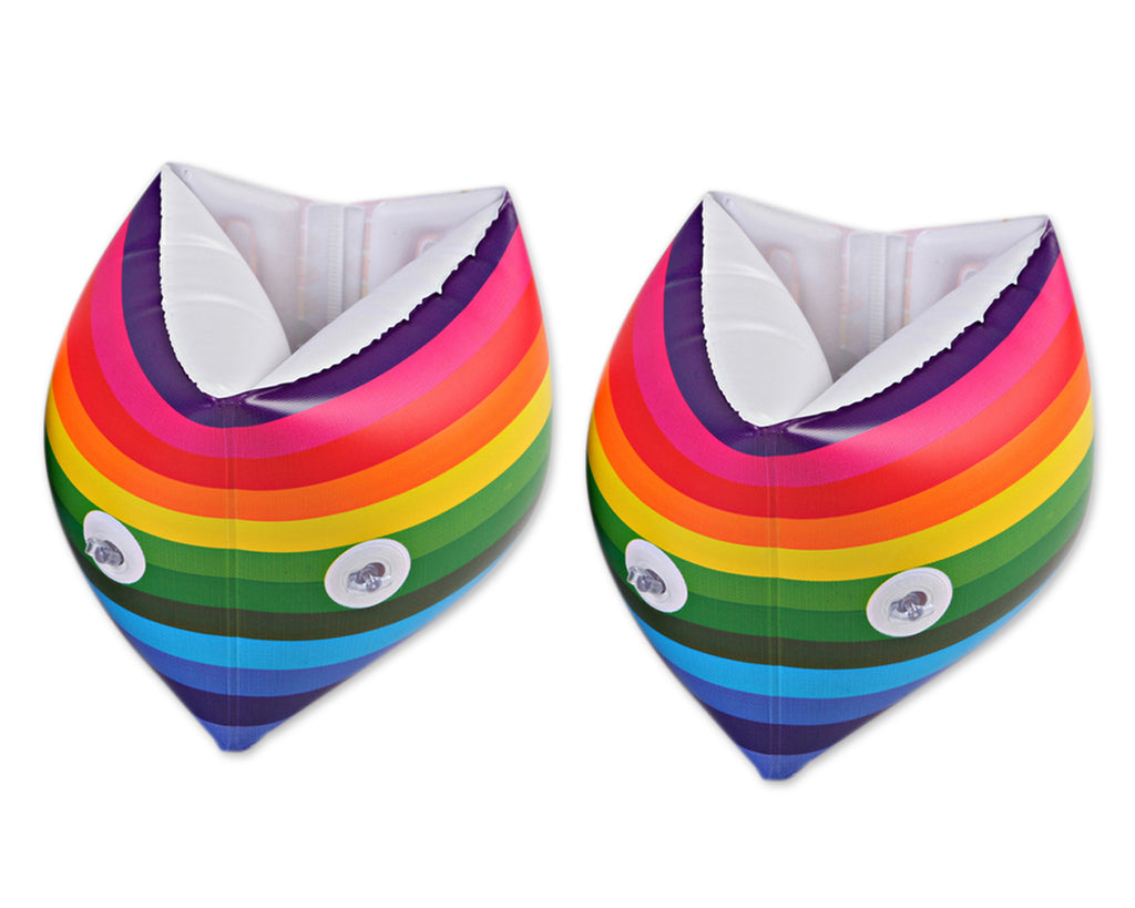 1 Pair Rainbow Inflatable Armbands for Swimming