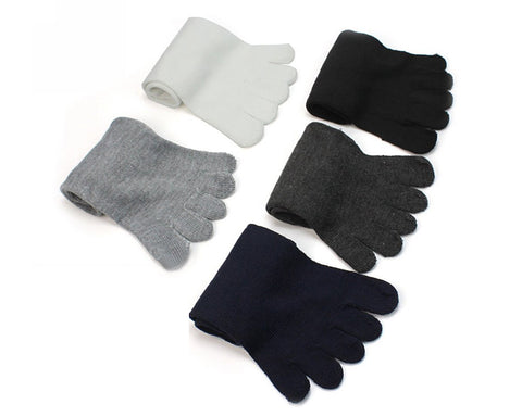 5 Pairs Cotton Toe Socks for Men