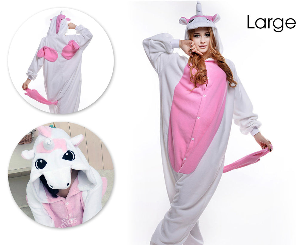 One Piece Pink Unicorn Pyjama - Large