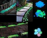100 Pcs Colorful Luminous Glow in the Dark Pebble Stone