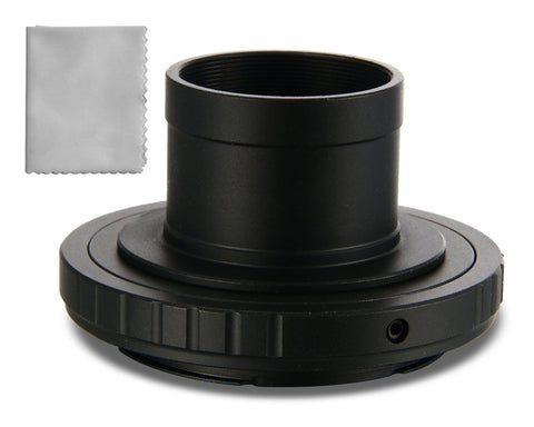"1.25"" Nikon Telescope Adapter and Extension Tube with T2 Ring to F Mount DSLR Cameras"
