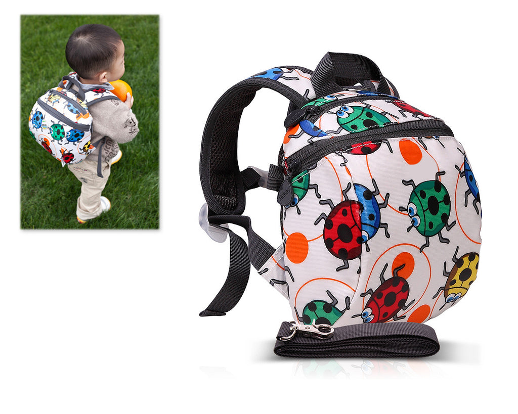 9'  Safety Harness Toddler Kids Backpack with Rein Strap - Ladybird