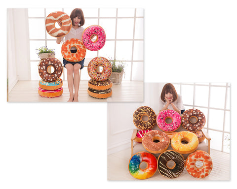 15'' Donut Plush Pillow Cushion