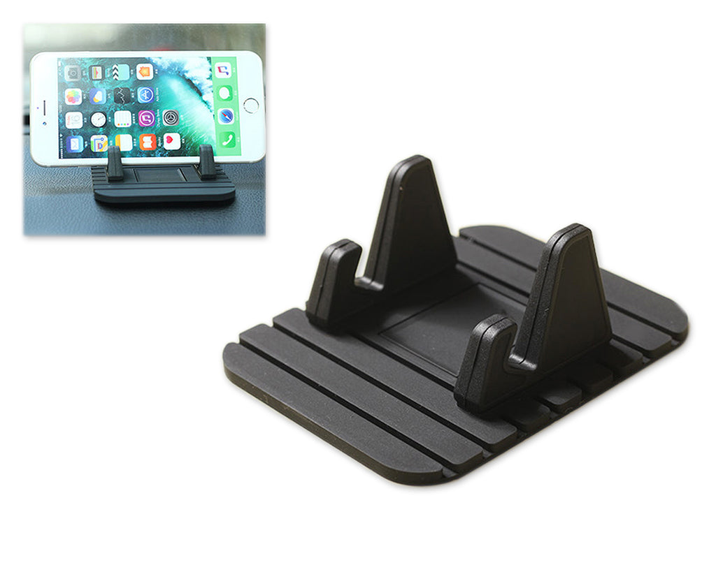 Car Mount Phone Holder Silicone Phone Stand -  Black
