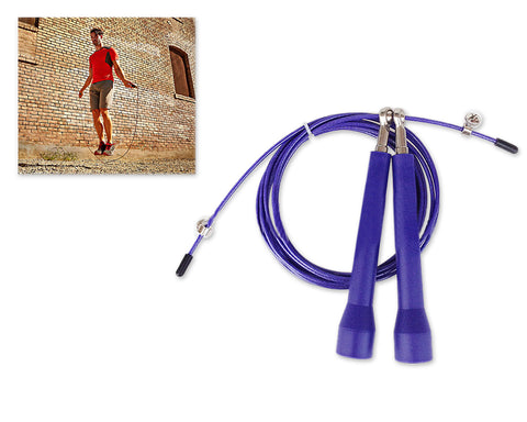 3m Adjustable Length Ball Bearing Speed Skipping Rope - Purple
