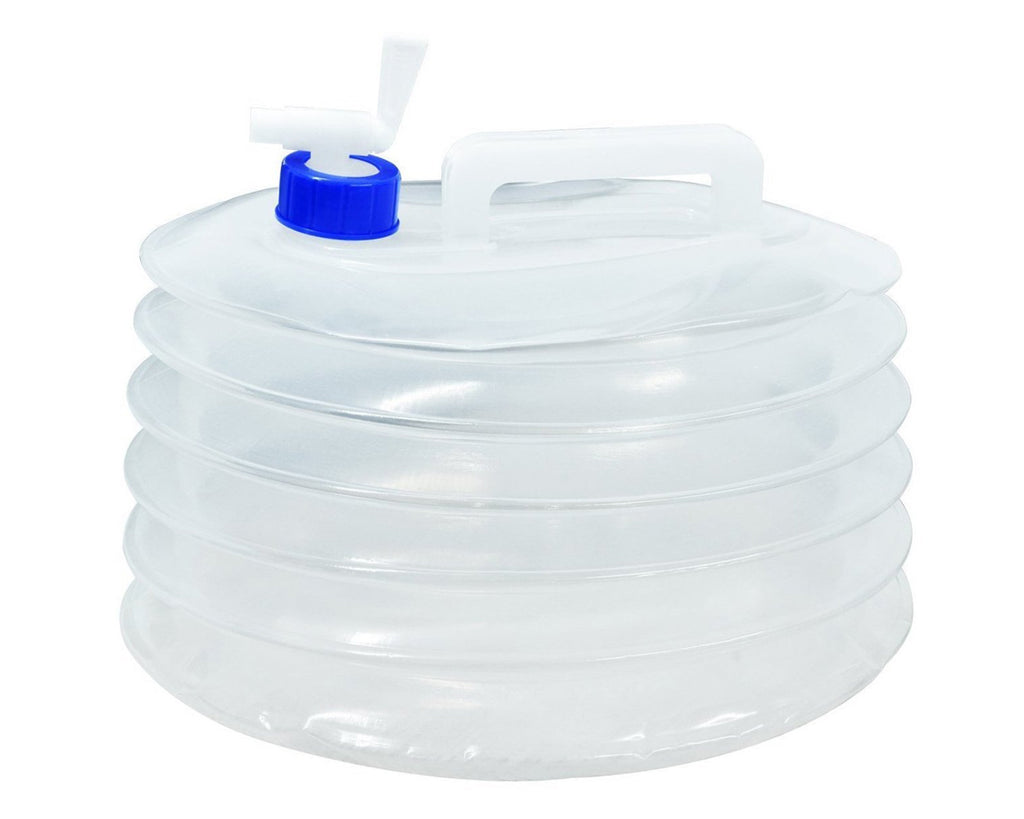 5L Collapsible Camping Water Container with Tap - Transparent