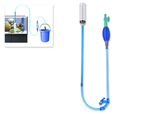 Aquarium Cleaner with Vacuum Pump and Pipe Clamp