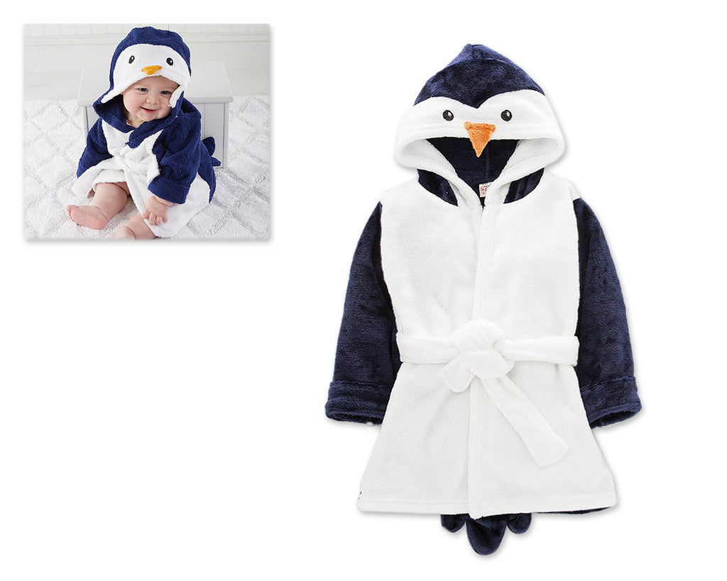 Animal Series Hooded Baby Blanket - White and Black