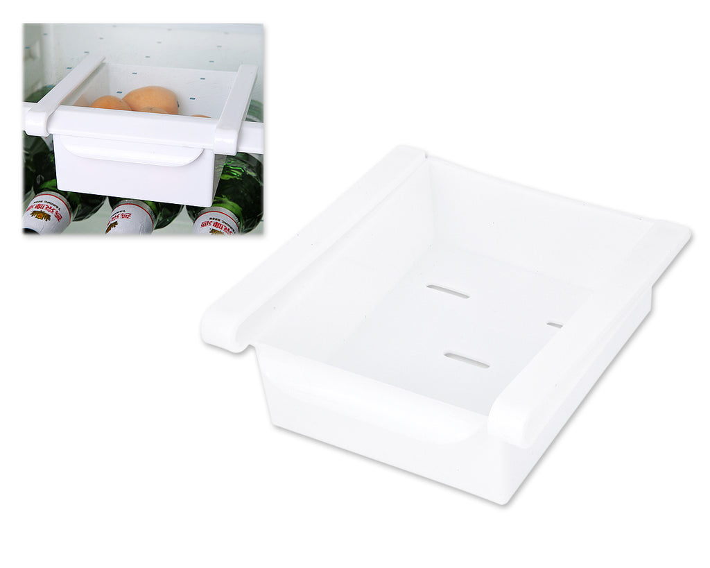 Storage Box Sliding Fridge Drawer for Refrigerator - White