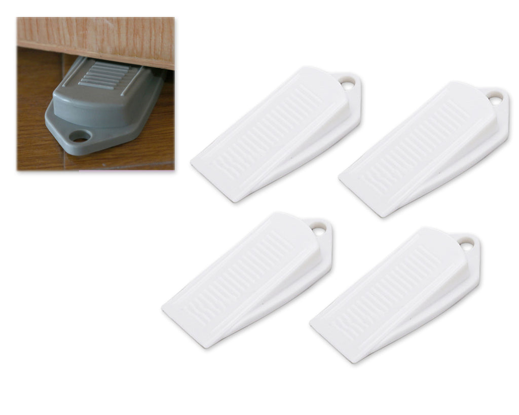 4 Pieces Baby Safety Rubber Door Stopper - White