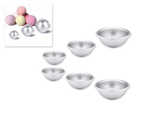 3 Pieces Aluminium Ball Shaped Molds for Baking
