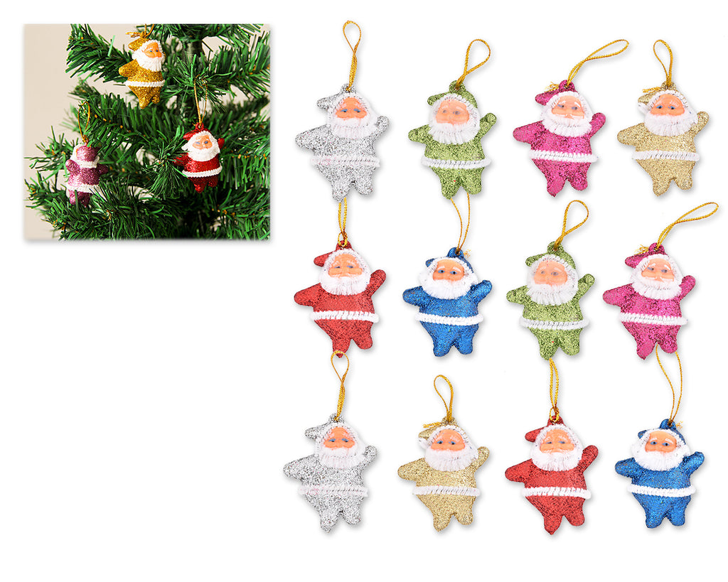 12 Pieces Santa Claus Ornaments for Christmas Tree Decoration