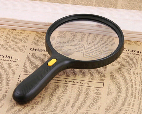 1.8X Magnifying Glass with 3 LED Lights - Black