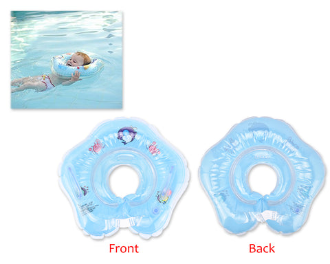 Flower Adjustable Baby Neck Float Swimming Ring - Blue