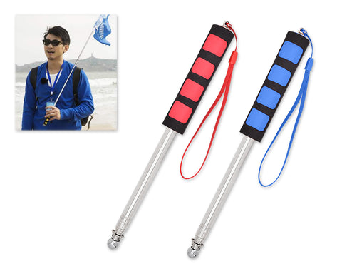 2 Pieces Stainless Steel Telescopic Flag Poles