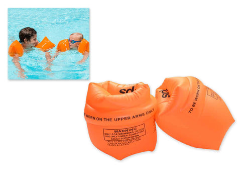 1 Pair Inflatable Armbands for Swimming - Orange
