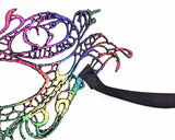 Colorful Halloween Masquerade Party Fancy Dress Sexy Lace Eye Mask - Butterfly