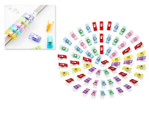 100 Pieces Colorful Mini Wonder Clips for Sewing and Quilting