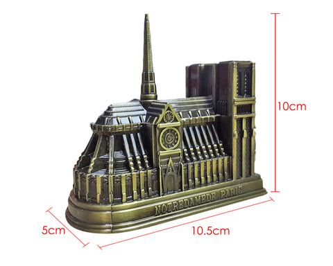 Metallic Notre Dame de Paris Model Statue Decoration