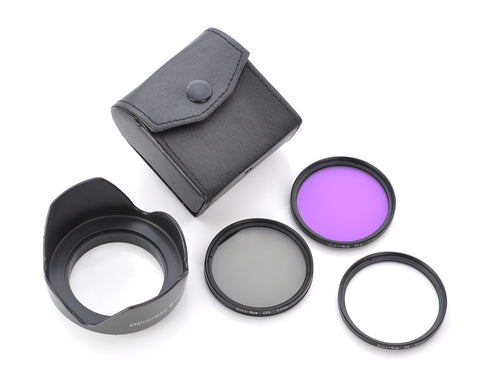 3 Pcs of 52mm Filter and Lens Hood Camera Kit